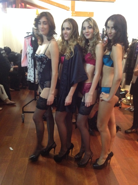 models before Boux show